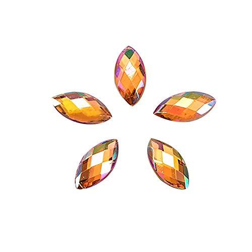 500Pcs Nagelaufkleber Acryl Pferd Sticker Auge Diamant Nagelsticker ManiküRe Strass 3D Nail Art Dekorativer Wassertransfer Diy Decals Dekoration Nagelspitzen Damen Mädchen Kinder