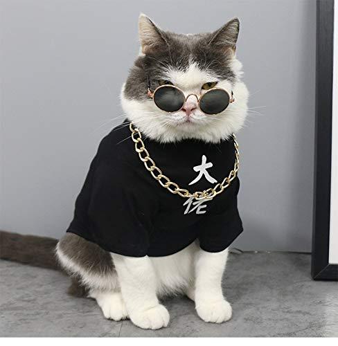 JINQD Heimtierbedarf für Hundekleidung/Katzenkleidung , Schwarzes chinesisches