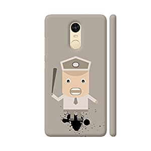 Colorpur Angry Security Guard Artwork On Xiaomi Redmi Note 4 Cover (Designer Mobile Back Case) | Artist: Designer Chennai