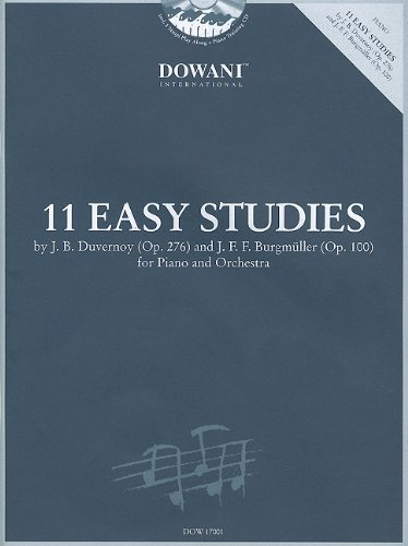 11 Easy Studies for Piano and Orchestra Piano+CD por Divers Auteurs