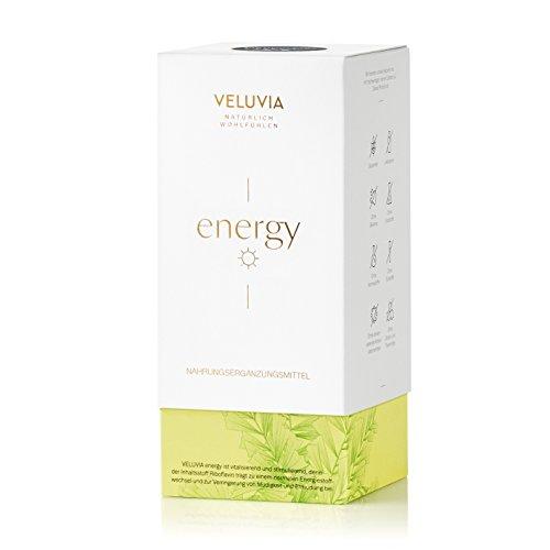VELUVIA energy 07961 Vegan Nahrungsergänzungsmittel | Gegen Müdigkeit & Erschöpfung | Vitamin C, Vitamin B2, Vitamin B6, Vitamin B7, Vitamin B5 | Superfood Mix | 2 x 30 Kapseln | Monatspackung (Niacin-60 Tabletten)