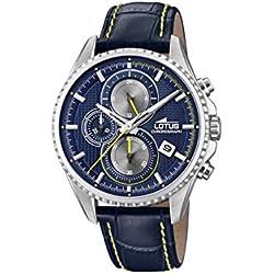 Lotus Watches Reloj Cronógrafo para Hombre de Cuarzo con Correa en Cuero 18527/3