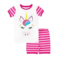 Harry Bear Girls Unicorn Short Pyjamas