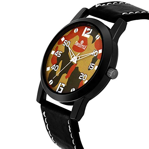 Swisstyle Analog-Digital Brown Dial Men's Watch-SS-GR089-BRW-BLK