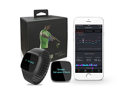 USENSE 2-In-1 Wearable Badminton Sensor Smart Pedometer Watch Training Aid Swing Sports Analyzer