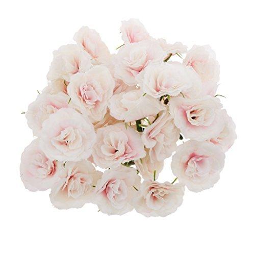 Buweiser 50pcs Künstliche Seide Rosen Blütenköpfe Blumen-Köpfe Hochzeit Parteidekor Bulk - Rosa (Künstliche Rose Bulk)