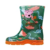 Peppa Pig Boys George Pig Wellies - Kids Welly Boots Green