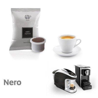 100 capsule caffè LOLLO miscela NERA compatibili Uno System - Maranello - Squesito