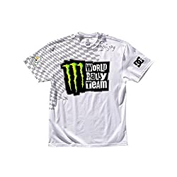 DC Shoes Tee Shirt Monster/Ken Block MWRT Wraps-Herren Gr. L, weiß