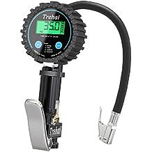 Trehai Manometro Digitale, 200 PSI Alta Precisa Pistola Gonfiaggio per Pressione Pneumatici con schermo LCD di Auto e Moto