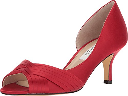 NINA Women's Contesa Red Rouge Luster Satin 6 M US