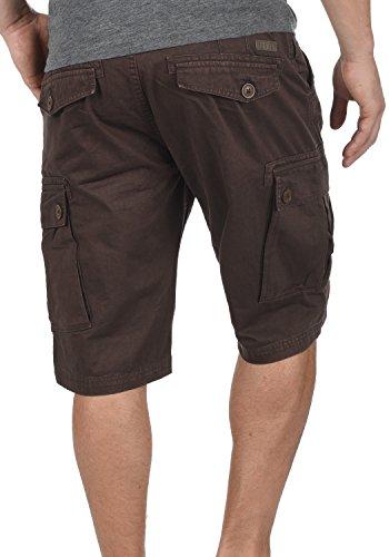 SOLID Valongo Herren Cargo-Shorts kurze Hose mit Taschen und Gürtel aus 100% Baumwolle Coffee Bean (5973)