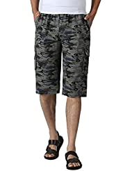 Sannysis Pantalones de chándal deporte de Camuflaje, hombres pantalones cortos gimnasia (Azul, 3XL)
