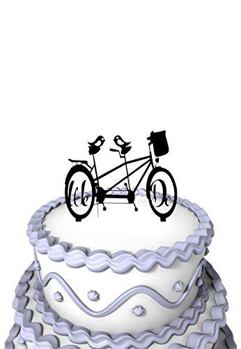 Mei Jia Fei Script wir tun Mountain Bike mit zwei Vogel Silhouette Wedding Cake Topper