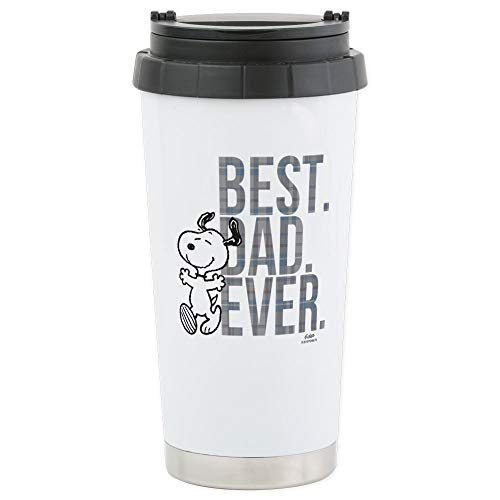 CafePress - Snoopy Best Dad Ever Edelstahl Travel Mug - Thermobecher Edelstahl, isoliert 16 Oz Coffee & Tea Tumbler