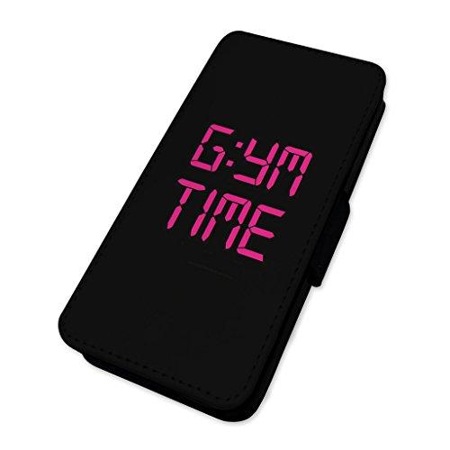 Fitnessstudio Zeit Witz Uhr–Fitness Crossfit-Workout–Flip Case Wallet Cover Samsung Galaxy S7 Edge