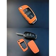 Für Audi Klapp Schlüssel Cover Key Cover Schlüssel Hülle FFB Fernbedienung Weiß