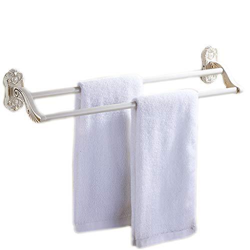 WTL Porte-serviette Porte-serviettes pliable européen Porte-serviette de peinture blanche cuite Porte-serviettes (Couleur : A)