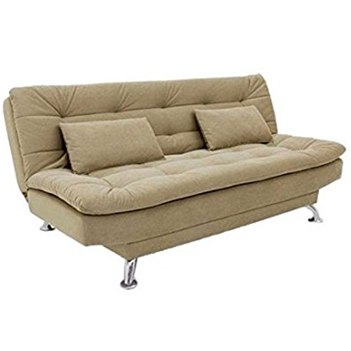 FabHomeDecor Super Soft Three Seater Sofa cum Bed (Beige)