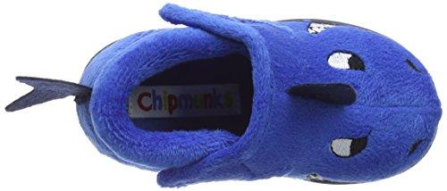 Chipmunks Sharky - Chaussons garçon Bleu - Blue (Blue 027)