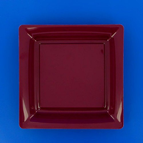 Ma Vaisselle Jetable - Assiette Carree Couleur Aubergine Diametre 180