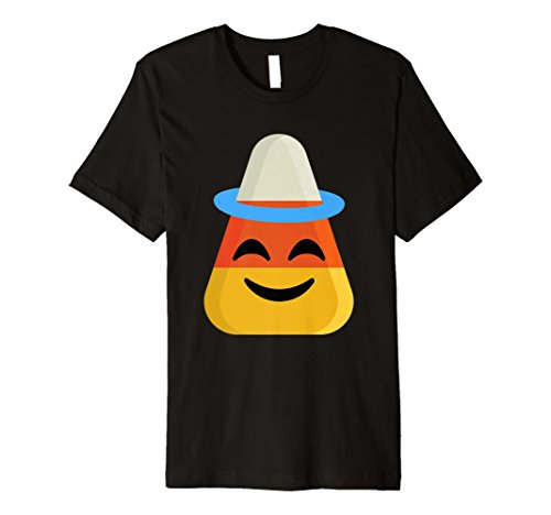 Candy Corn Emoji-Shirt Angel Halo Halloween-Kostüm Geschenk (Black Halo Kostüm)