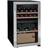 La Sommelière LS50.2Z Independiente Nevera de vino termoeléctrico Negro, Acero inoxidable 50botella(s) B - Enfriador de vino (Independiente, Negro, Acero inoxidable, Negro, 3 estanterías, 1 puerta(s), Acero inoxidable)