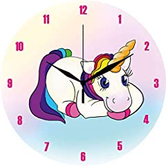Idea Regalo - Erfurth Fun Orologio da Parete Design Sweet Unicorn, Multicolore, Taglia Unica
