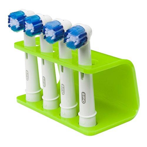 Elektrische Zahnbürste Seemii Halter, Lime Green, passend für ORAL-B Mechaniken, plastik, grün, 4 Head Holder