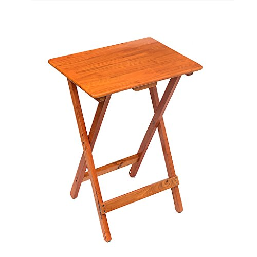 Table carrée Pliante Table portative pour Enfants Table de Chevet Simple en pin Table de Jardin de Couleur Miel Table de Jardin (Taille : 60 * 40 * 75cm)