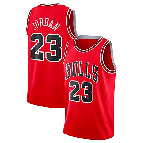 DCE Michael Jordan Legend Men's # 23 Chicago Bulls Genähter Swingman Jersey Basketball Jersey (Rot, M(48)) -