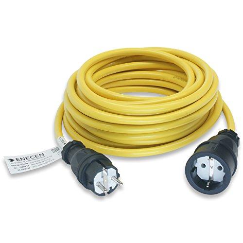 Preisvergleich Produktbild ENECEN 1011205 Verlängerungskabel 230V/16A IP20 K35-AT-N07V3V3-F 3x2,5 mm² gelb mit Gummi ST/KU 5m