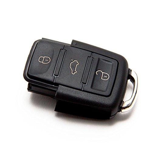 INION® VWKS05 - Satz -1x Ersatz Schlüsselgehäuse - 3 Taste Autoschlüssel Schlüssel Fernbedienung Funkschlüssel Neu Gehäuse ohne Elektronik + 2x Stück KFZ Autolampen 12V T10 Sockel