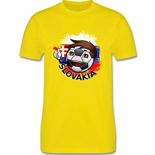 EM 2016 - Frankreich - Fußballjunge Slowakei - Herren Premium T-Shirt Lemon Gelb