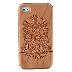 HC-Carving-Skelett-Muster aus Holz Case für iPhone 4 / 4S