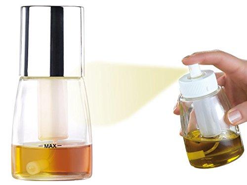 Rosenstein & Söhne Ölsprüher: Dekorative Essig- & Öl-Sprühflasche mit 2-Stufen-Sprüh-Funktion, 70 ml (Sprühflasche Öl Grill)