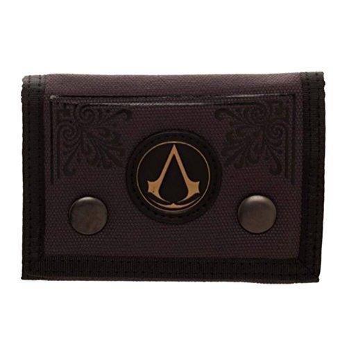 Leinwand Tri-fold Wallet (Offizielle Lizenzierte Männer Assassins Creed Emblem Leinwand Tri-Fold Wallet)