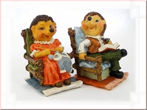 Igel im Sessel aus Steinharz, Stückpreis – 2