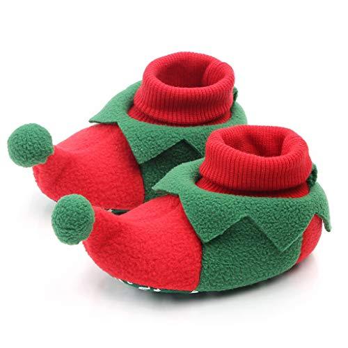Beladla Scarpe da Bambina Ispessimento Caldo Invernale Calzature da Bambino per Bambini con Calzini Elasticizzati Jacquard di Cartone Animato per Animali per Natale