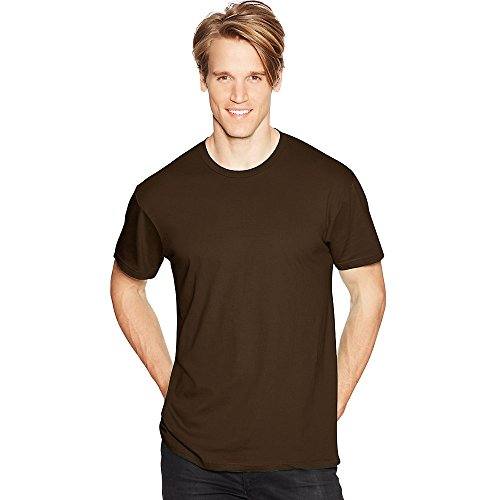 Hanes Mens Nano-T T-Shirt Dark Chocolate