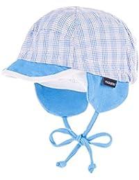 maximo Baby-Jungen Mütze Schildmütze mit Bindeband, Ohrenklappen, Kariert