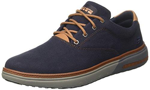Skechers Folton-Verome, Zapatillas Para Hombre, Azul (Navy), 43 EU