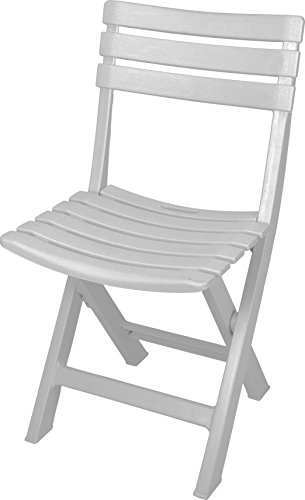 Ipae Komodo Indonesisch Effekt Klappsessel, Kunststoff, weiß, 44x 41x 78cm -