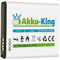 Akku-King Akku für Samsung Galaxy S2, II i9100, SGS 2, Galaxy R I9103, S2 Plus i9105P - ersetzt EB-F1A2GBU, CSTD - Li-Ion 1800mAh