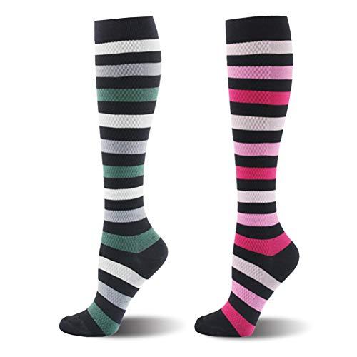 Kompressionsstrümpfe für Damen und Herren Stützstrümpfe Thrombosestrümpfe Medizinisch für Schwangerschaft Sport Flug Anti-Thrombose Socken (Herren Yoga-socken Größe Xl)