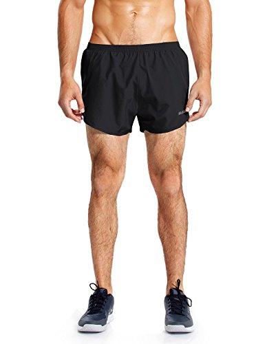 Baleaf Men's Quick-Dry Lightweight Pace Running Shorts Black Size M