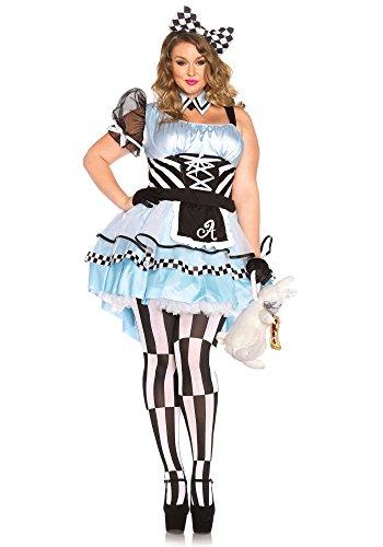Kostüme Mad Womans Hatter (Leg Avenue 85225X - Psychedelic Alice Damen kostüm , Größe 3X-4X (EUR 48-50),  Damen Karneval)