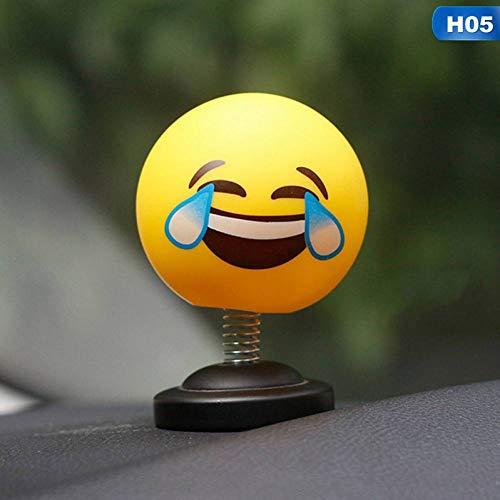 XIEJUN Ciondolo per Auto Decorazione dell'automobile Auto Shaking Head Toys Car Ornamenti Bambole Cute Cartoon Divertente Emoji Wobble Head Robot Lovely Car Dashboard Decoratio