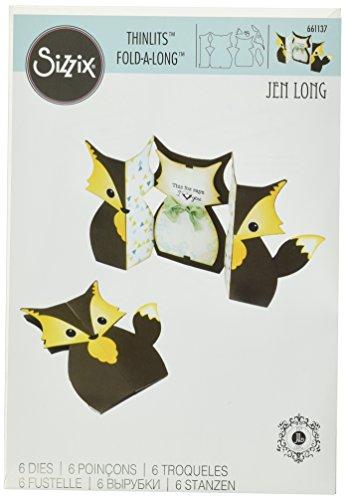 sizzix-fox-label-pieghevole-by-jen-long-thinlits-in-acciaio-al-carbonio-multicolore-confezione-da-6