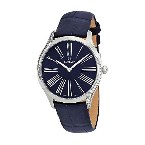 Omega de Ville blu quadrante orologio da donna 428.18.36.60.03.001